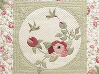 Light Green and Rose I Promised You a Rose Garden Quilt