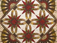 King Batik Gold and Crimson Sedona Quilt