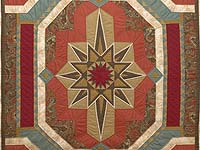 King Southwest Medallion Star Quilt