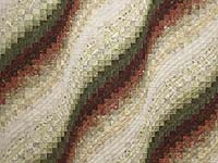 Batik Moss Burgundy and Cream Bargello Wave Quilt