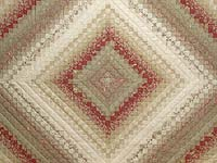 Light Sage and Crimson Trip Around the World Colorsplash Quilt