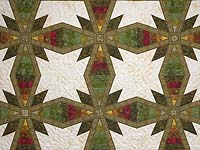 Gold Red and Green Kayla Quilt