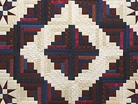 King Navy Burgundy and Cream Captain's Quilt