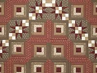 King Brown and Red Captain's Quilt