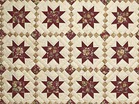 Red Gold and Cream Cross Country Quilt