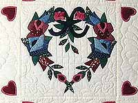 Heart Wreaths Applique Quilt