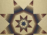 Plaid Burgundy Navy and Golden Tan Royal Star of Maryland Quilt