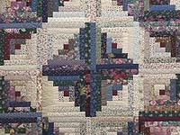 Scrappy Log Cabin Quilt