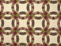 Twin Autumn Leaves Double Wedding Ring Quilt