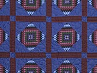 Amish  Framed Sunshine Diamonds Quilt