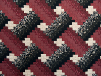 Brick, Black and Beige Weaver Fever Quilt