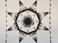 Black, Gold and Beige Maryland Star Quilt