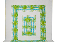 Walk in the Park Queen Size Refreshing Kiwi and Teal