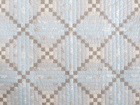 Sky Blue and Soft Gray Chimney and Cornerstone Log Cabin Quilt