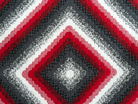 King Red Black and White Ocean Wave Quilt