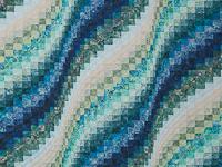 Queen Size Bargello Wave Quilt