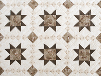 Olive Green and Beige Cross Country Quilt
