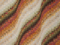 King Bargello Wave in Golds, Browns and Paprikas