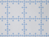 Pastel Blue and Ivory Nine Patch Quilt