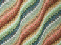 Queen Bargello Wave in Paprika, Blue, Gold and Green