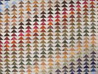 Hand Painted Rainbow Pyramid Quilt King Size