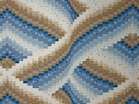 Twisted Bargello King size