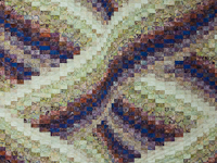 Twisted Bargello - Raspberry swirl