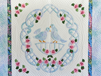 Doves and Roses Wedding Quilt