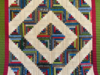 Multicolor Traditional Log Cabin Quilt