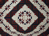 King Navy Burgundy and Cream Captains Quilt