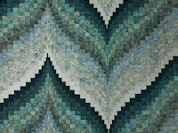 Bargello Flame - Queen size
