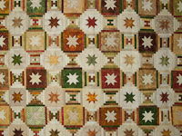 Courthouse Log Cabin Stars Queen size