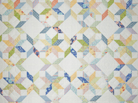 FRESH plus Pillow Shams -blues/yellows/greens Queen Size Bed Quilt