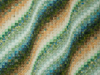 Tropical Gardens-greens/blues/earthtones Hand Painted fabrics King size bed