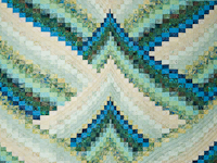 Lightning Strikes in Land and Sea Shades King Size Bed Quilt