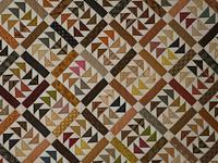 Dutchmans Puzzle Queen Size Bed Quilt