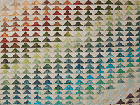 Rainbow Pyramid - Queen Size Bed Quilt