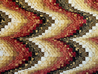 King Brick, Gold and Black Bargello