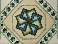 Star Spin in Batiks  King Bed Size