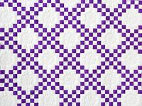 Classic Purple and White Irish Chain