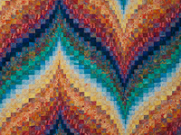 Bargello Flame - Brilliant! Queen Bed Size