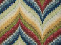 Bargello Flame Batik style fabrics  King size bed