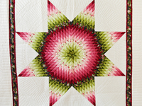 Red and Green Lone Star Quilt