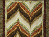 Bargello Flame in Harvest shades of Batiks 
