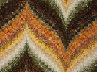 Bargello Flame - Walking at Sunset Queen bed size