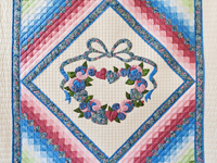 Blue and Rose Country Love in the Commons Quilt
