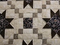 Brown Golden Cross Country Quilt