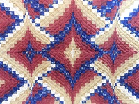 Red, Gold and Navy Diamond Jubilee Quilt