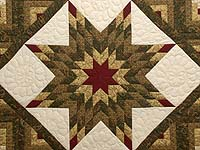 Earthtones Lone Star Log Cabin Quilt