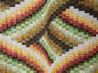 Twisted Bargello -  Autumn colors Queen size